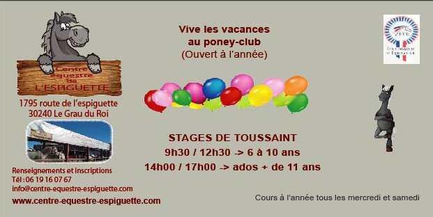 Stage 6 à 10 ans – Vacances de Toussaint